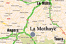 Map region Chateau Loire La Mothaye Bed and Breakfast B&B route